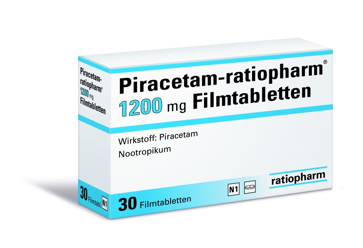 Illustration für Piracetam in Online-Apotheken